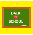 Green board with chalk on the wall back to school vector