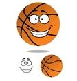 Happy smiling cartoon basketball vector