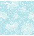 White seamless flower pattern vector