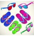 Summertime fun beach vector