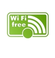 Free wifi and internet sign with square border vector