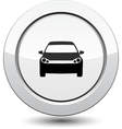 Button with car icon vector
