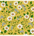 Seamless daisy pattern vector
