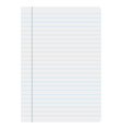 Sheet of paper lines vector