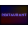 Colorful glowing neon lights restaurant vector