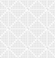 White perforated triangles tile ornament vector