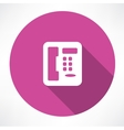 Landline phone icon vector