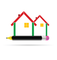 House with pencil vector