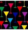 Martini glass seamless pattern vector