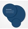 Infographics circles template design vector