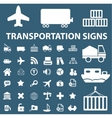 Logistics  shipping signs vector