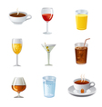 Drinks icon set vector