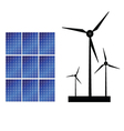 Solar panel and windmills for energy vector