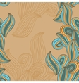 Seamless pattern wave background beige and blue vector