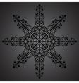 Vintage background ornament black star vector