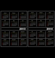 Black calendar template 20132014 vector