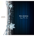 Elegant christmas background with blue garland and vector