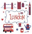 London travel set vector