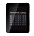 2013 year calendar on abstract design tablet vector