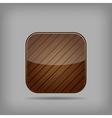 Wooden button vector