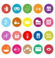 Wellness flat icons on white background vector