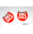 Round labels stickers for big sale vector