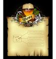 Beer document template vector