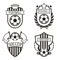 Set of sports labels with soccer football symbols vector