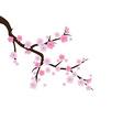 Blooming cherry 2 vector