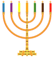 Golden menorah vector