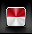 - monaco flag glossy button icon vector