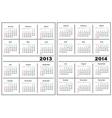 Calendar template 20132014 vector