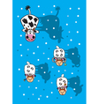 Cow and sheep winter vector