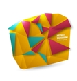 Abstract background origami geometric vector
