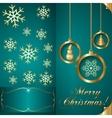 Abstart cyan blue christmas invitation card vector