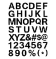 Pixel font - alphabets and numerals characters in vector