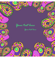 Floral paisley colorful vector
