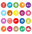 Sport game athletic flat icons on white background vector