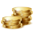 Coins gold vector