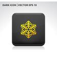 Snowflake snow icon gold vector