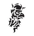 Bird viking tattoo vector