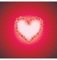 Heart of love diamond heart background with space vector