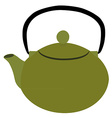 Green teapot vector