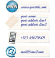 Contact info template vector