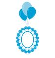 Baby frame on air balls vector