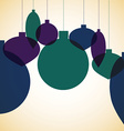Retro overlay christmas bauble in format vector