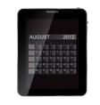 2013 year calendar on abstract design tablet vector