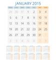 Calendar 2015 12 months design template vector