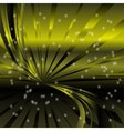 Abstract star dots green rays background vector