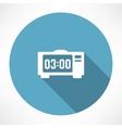 Electronic clock icon vector